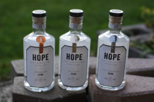 Hope on Hopkins Gin: London Dry, Mediterranean, Salt River