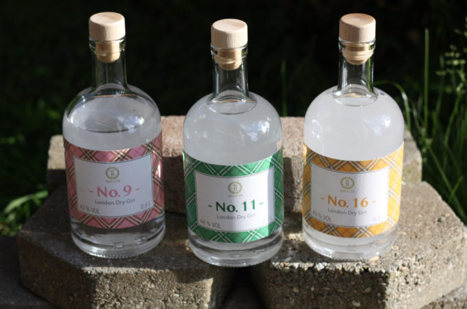 Baccys: London Dry Gin No. 9 - No. 11 - No. 16