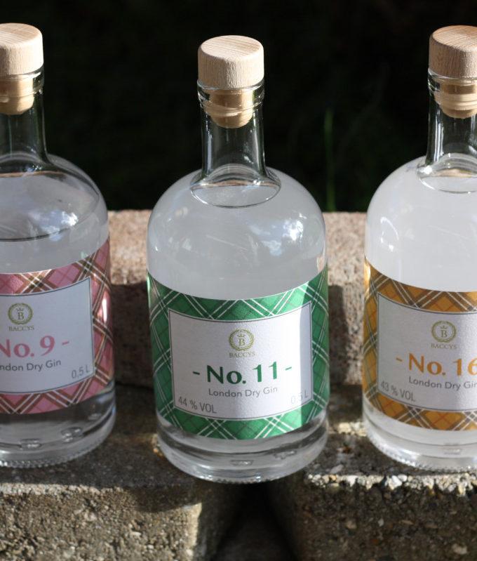 Baccys: London Dry Gin No. 9 - No. 11 - No. 16