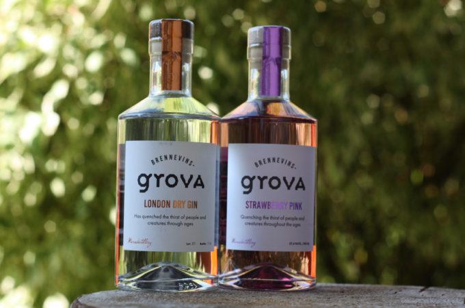 Brennevinsgrova London Dry Gin & Strawberry Pink Gin